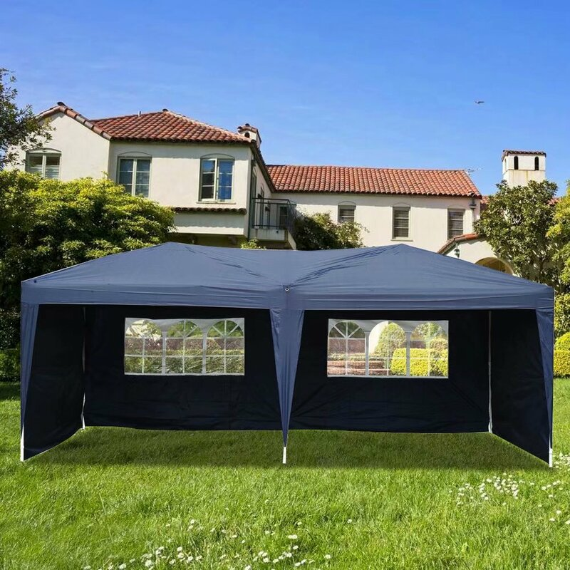 Winado 19 5 Ft W X 10 Ft D Metal Pop Up Canopy Wayfair