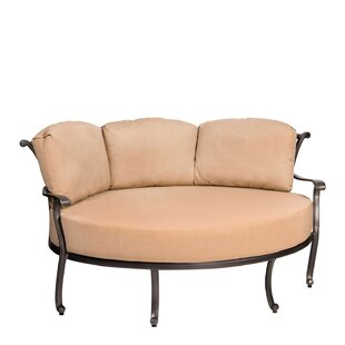 New Orleans Crescent Cuddle Patio Chair by Woodard