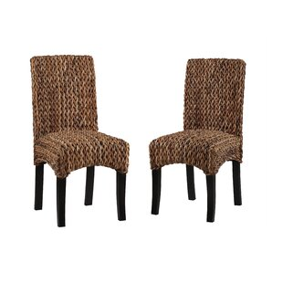 Gisselle Banana Weave Dining Chair (Set of 2) Bay Isle Home