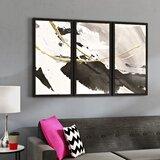 Gilded Arcs I - 3 Piece Picture Frame Photograph Print Set on Plastic/Acrylic