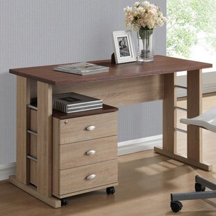 Baxton Studio 3 Drawer Woodrow Writing Desk by Wholesale Interiors