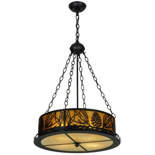 Meyda Tiffany Mountain Pine 4-Light Pendant