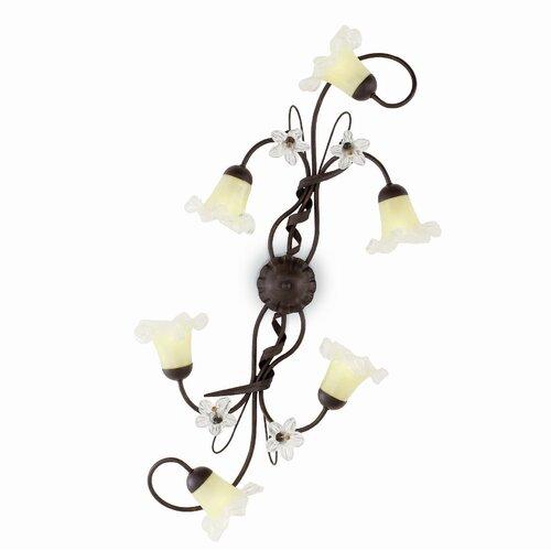 Radu 6 Light Wall Lamp Rosalind Wheeler