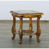 Maggiolini Collection Glass Top End Table by European Furniture