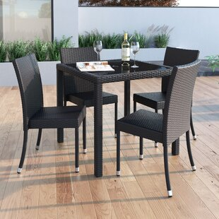 Abbingt Glass Dining Table by Wrought Stu..