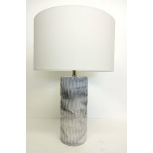 Hedge Round Faux Marble 28 Table Lamp