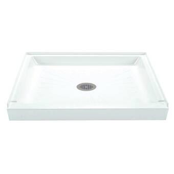 Swan Solid Surface 34 X 54 Single Threshold Shower Base Wayfair