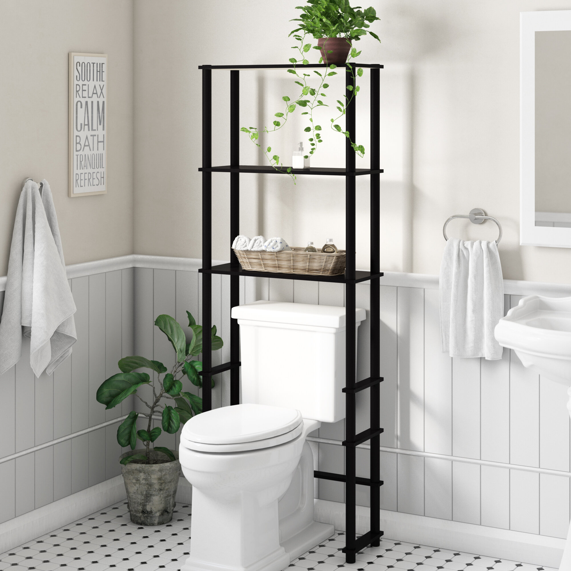 Picture of: Over The Toilet Storage Wayfair