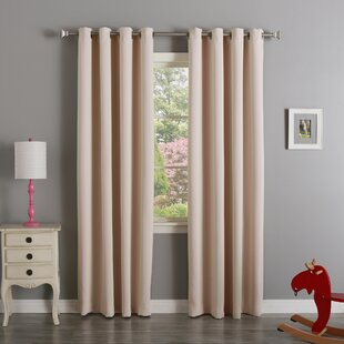 Striped Room Darkening Grommet Curtain Panels (Set of 2) by Best Home Fashion, Inc.