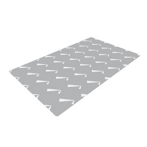 Check You Out Gray/White Area Rug