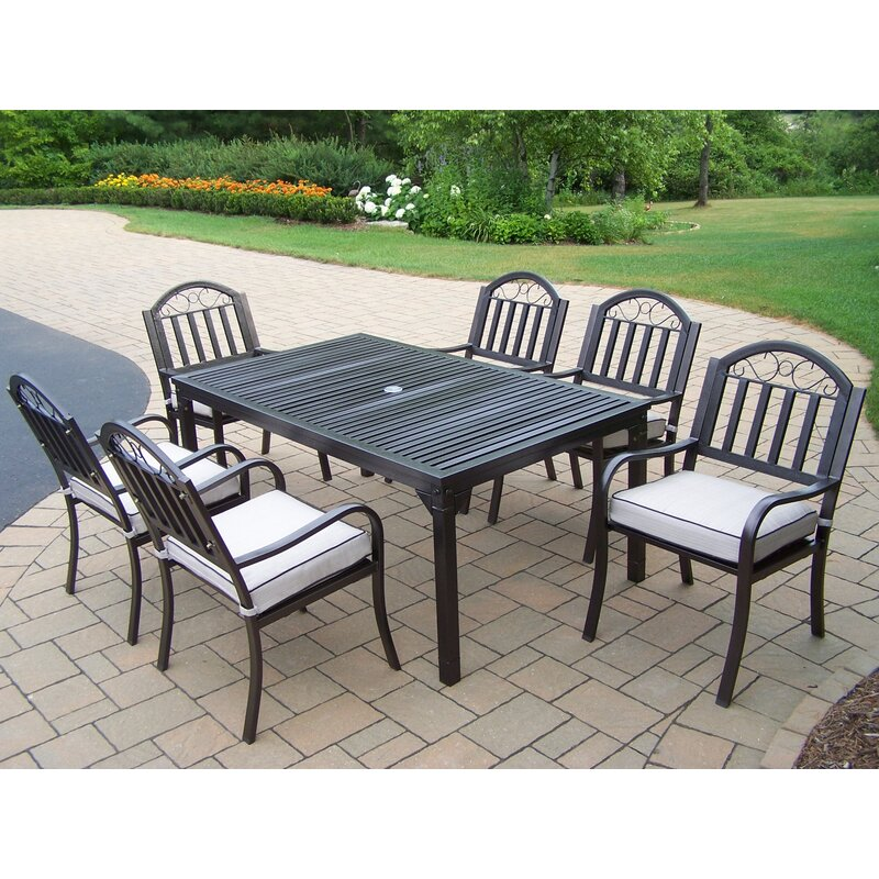 Red Barrel Studio Lisabeth Traditional 7 Piece Dining Set With Cushions Wayfair