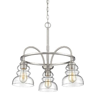 Sherlock 3-Light Shaded Chandelier