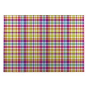 Glenn Tropical Plaid Indoor/Outdoor Doormat