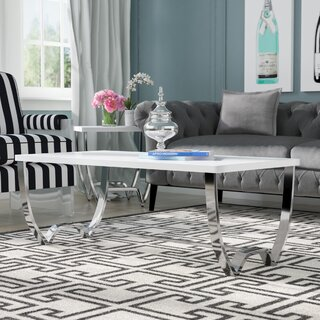 Aguayo Contemporary Coffee Table by Everly Quinn SKU:DD822705 Buy