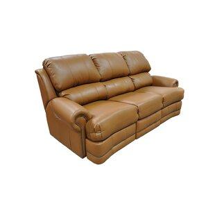 Omnia Leather Morgan Leather Reclining Sofa