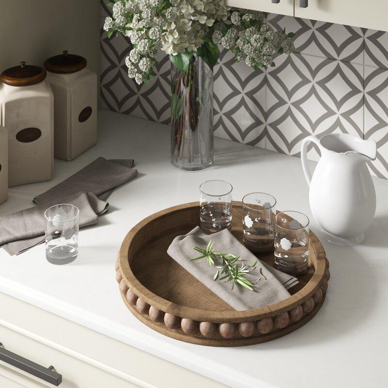 Ophelia & Co. Brashear Round Wood Coffee Table Tray ...