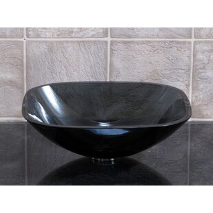 Shop For Tempered Glass Square Vessel Bathroom Sink By Vanitesse