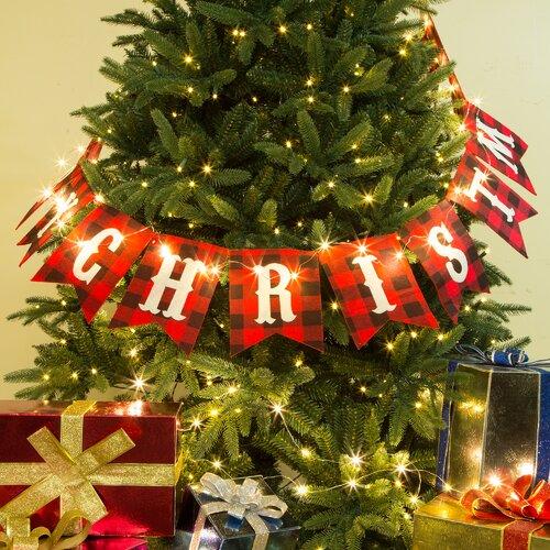Merry Christmas Plaid Banner