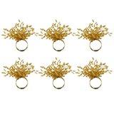 Beaded Burst Napkin Ring (Set of 6)