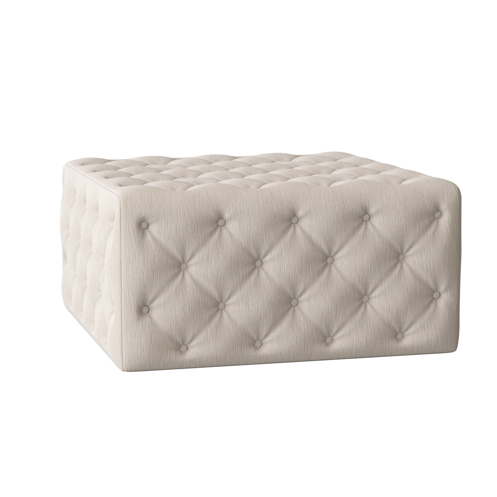 My Chic Nest Liv 37 Tufted Square Cocktail Ottoman Perigold