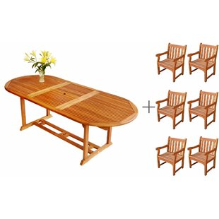 ALK Brands LuuNguyen 7 Piece Dining Set