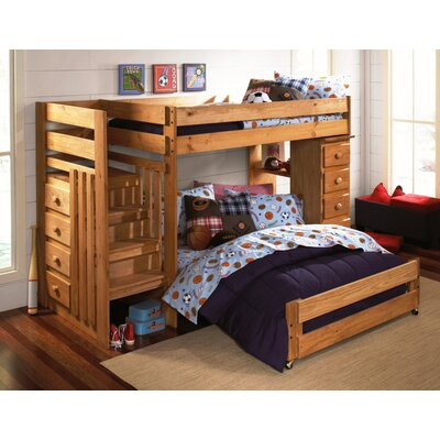 Ashton Twin over Full L-Shaped Bunk Bed with Drawers Wildon Home®