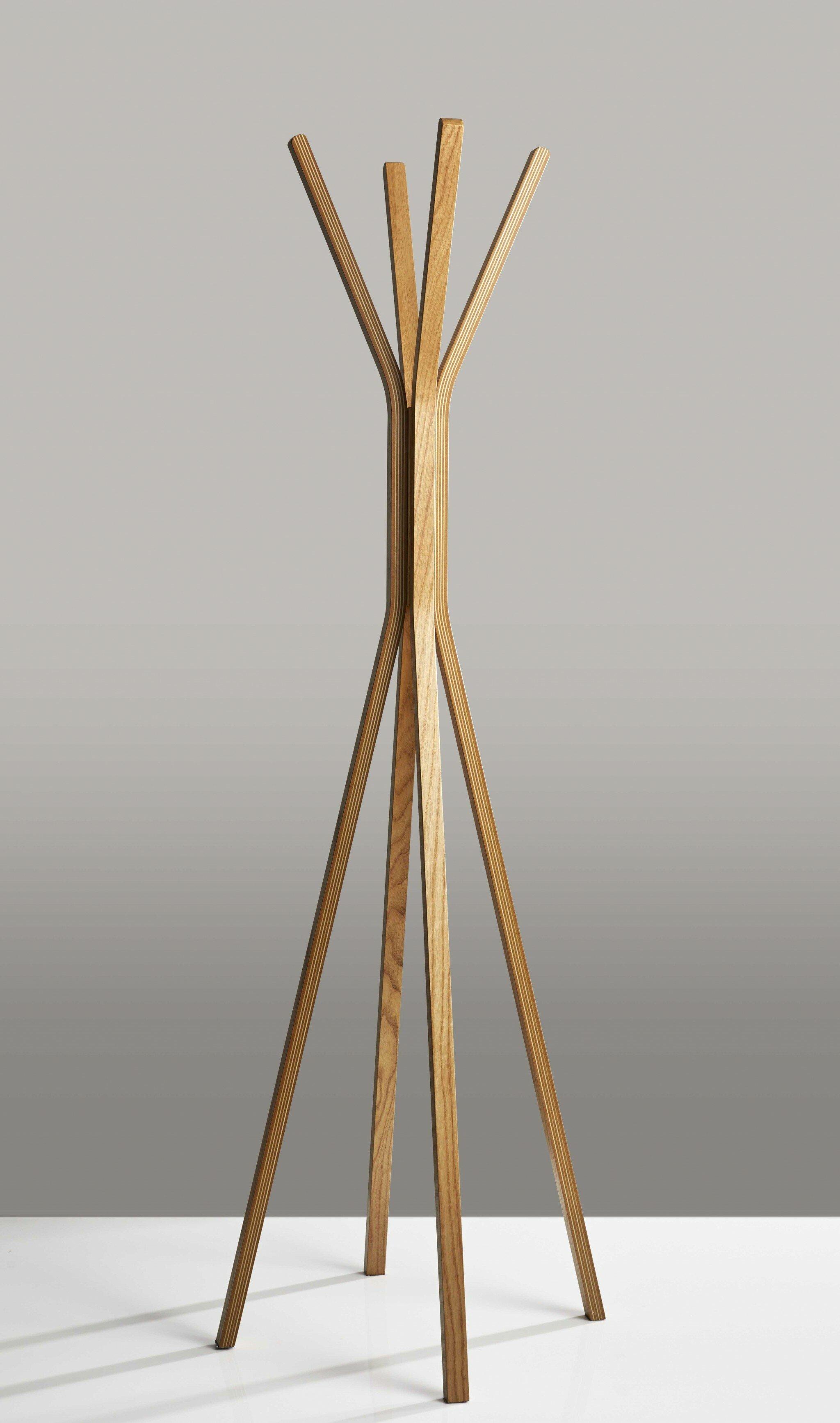 Corrigan Studio Newson Solid Wood 4 Hook Freestanding Coat Rack Wayfair