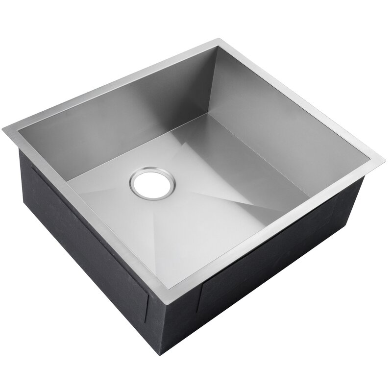 Akdy 25 X 22 Undermount Stainless Steel Single Bowl Kitchen Sink Reviews Wayfair