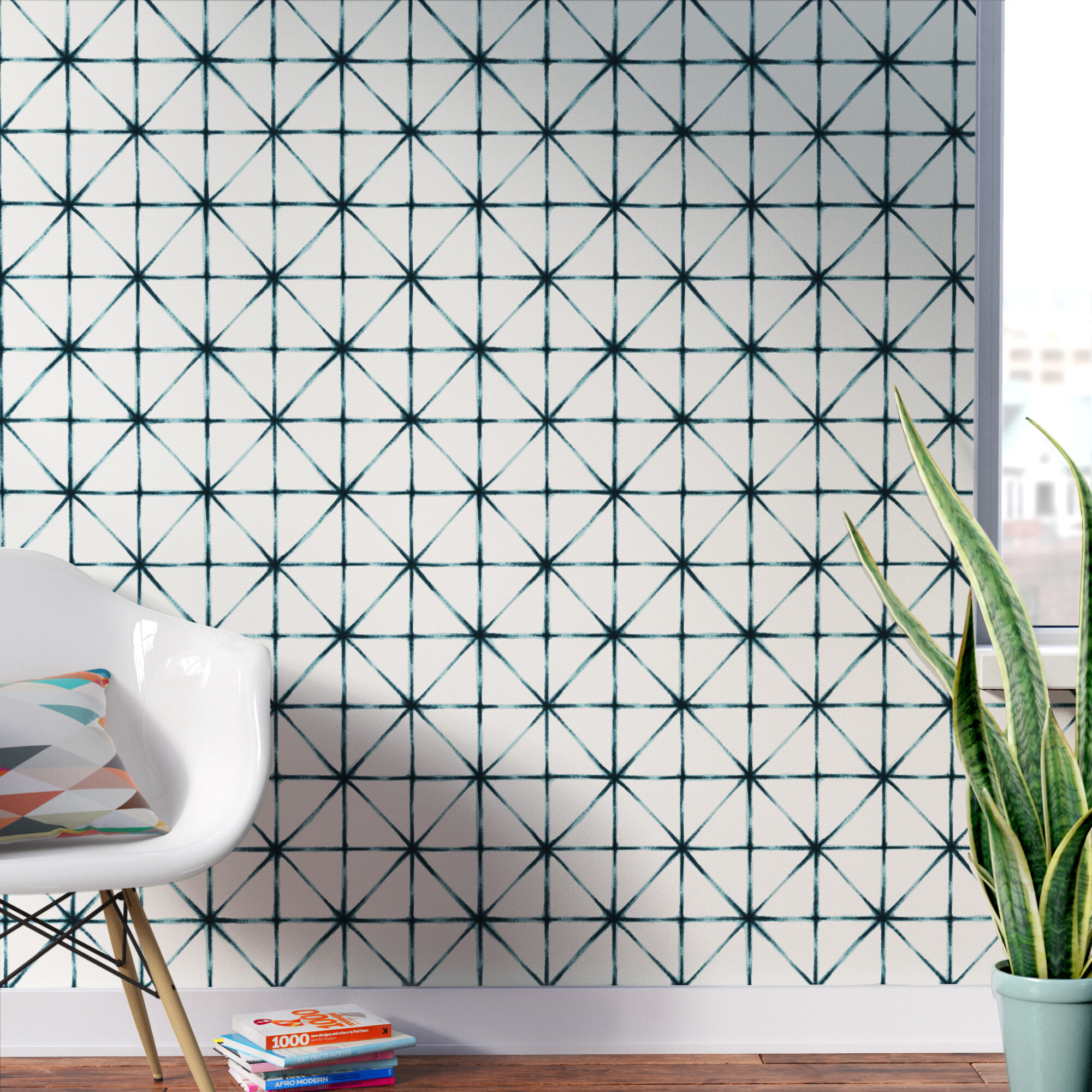 Wrought Studio Folden Modern 16 5 L X 20 5 W Geometric Peel And Stick Wallpaper Roll Reviews Wayfair