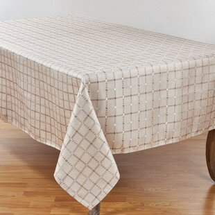 Mauro Woven Tattersall Windowpane Tablecloth
