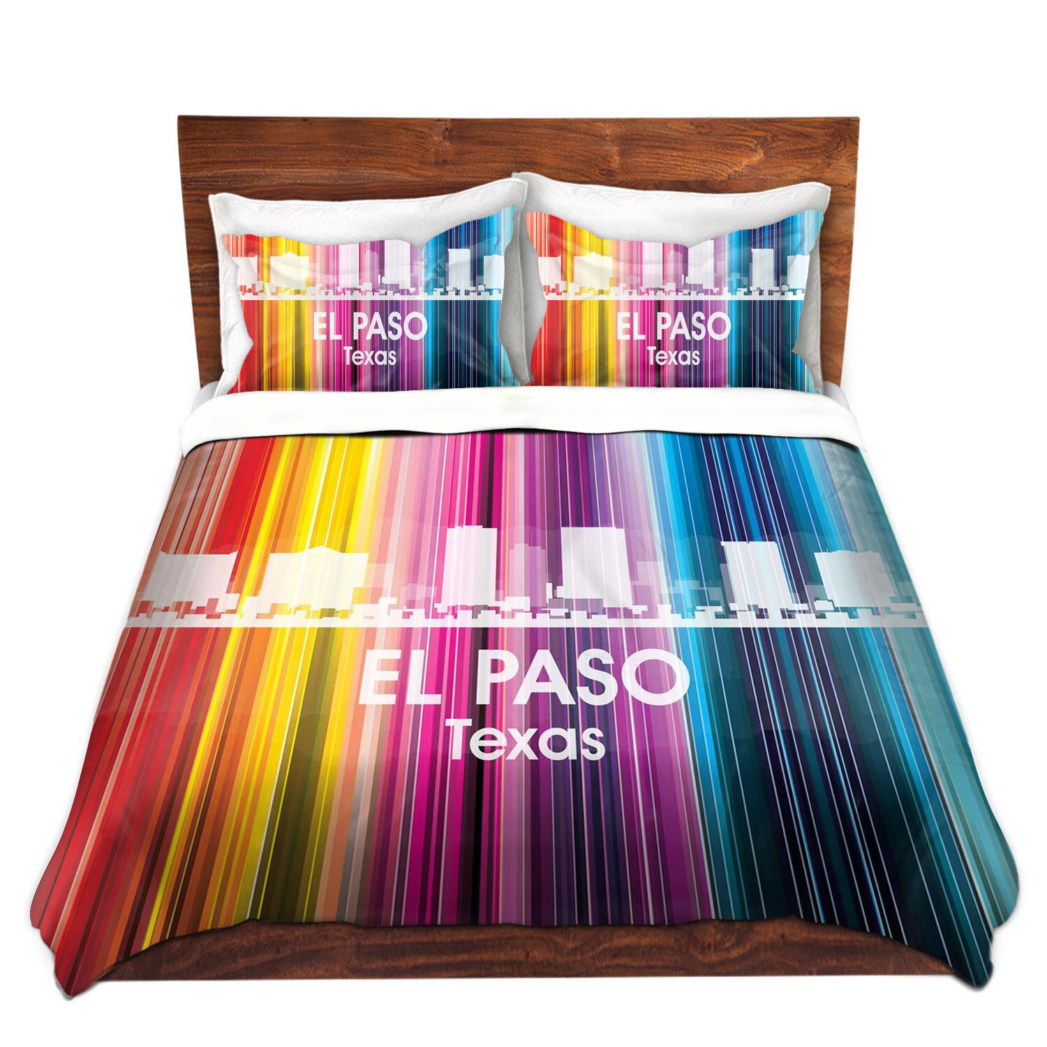 East Urban Home City Ii El Paso Texas Duvet Cover Set Wayfair