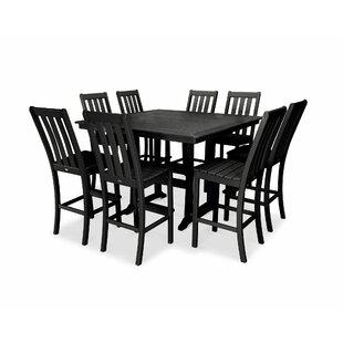 POLYWOOD® Vineyard Nautical Trestle 9 Piece Bar Height Dining Set