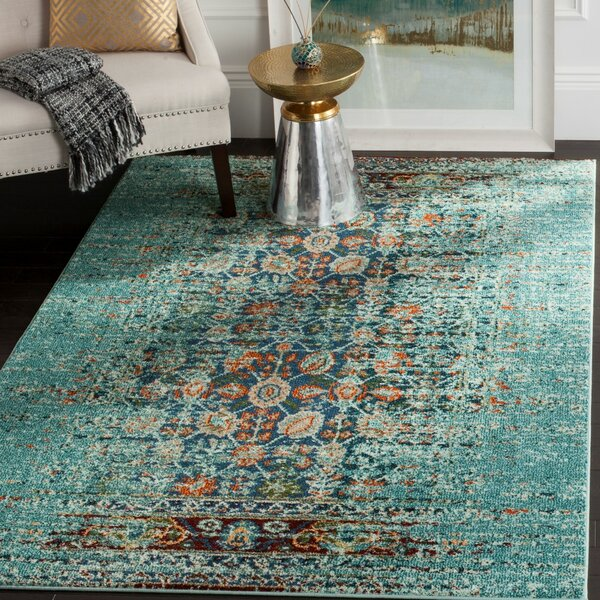 Mercury Row Artemis Blue Area Rug U0026 Reviews | Wayfair