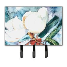 Magnolia Flower Leash Holder and Key Hook by Caroline's Treasures