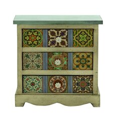 3 Drawer Traditional Canvas Table Chest by ABC Home Collection