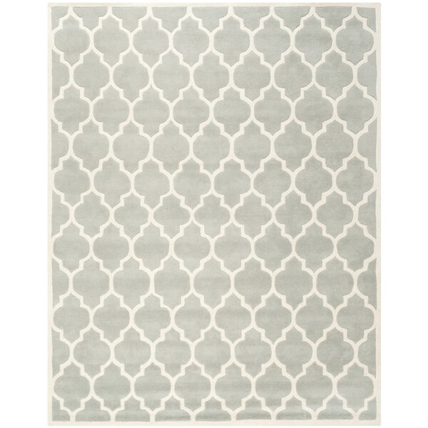 Varick Gallery Wilkin Light Blue U0026 Ivory Moroccan Area Rug U0026 Reviews |  Wayfair