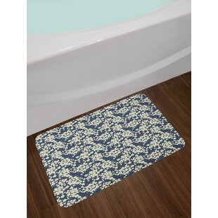 Floral Vibrant Little Blossoms Flourishing Bath Rug