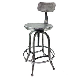 Arthur Adjustable Height Swivel Bar Stool (Set of 2)