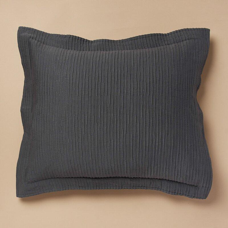 The Pillow Collection Danique Floral Bedding Sham Blue European//26 x 26