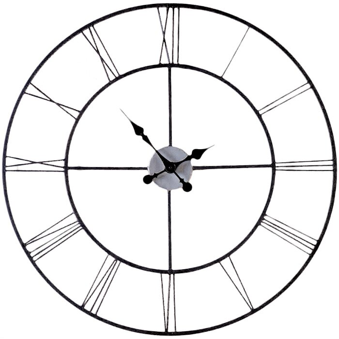 Laurel Foundry Modern Farmhouse Oversized Decorative 30 Wall Clock