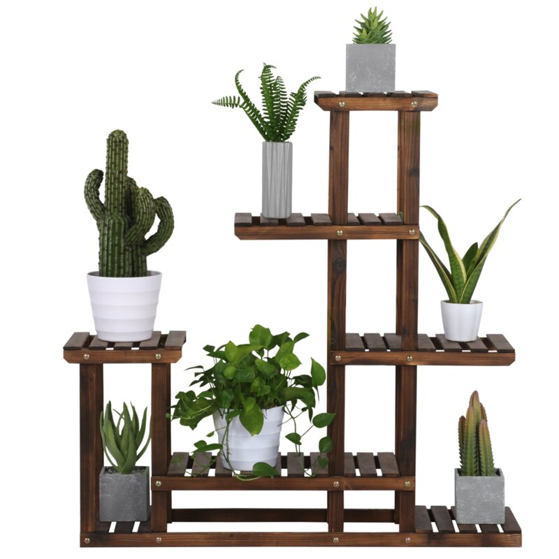 Multi Tiered Wooden Flower Plant Stand