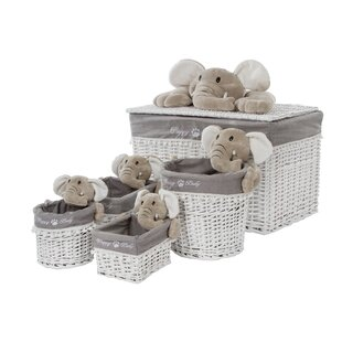 Free Shipping Happy Elephant Laundry Set