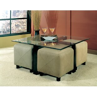 Bargain Janda Coffee Table and 4 Ottomans By Latitude Run