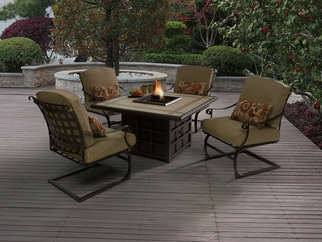 Genial Antoine Wrought Iron Propane Fire Pit Table
