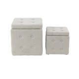 Leverette Contemporary Square 2 Piece Accent Stool Set by Charlton Home®