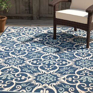 Groveland Navy Indoor Outdoor Area Rug