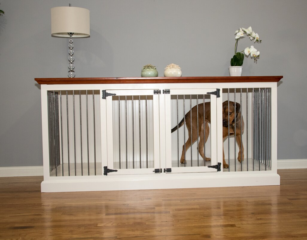 Charming Cozy K 9 Double Wide Large Credenza Pet Crate