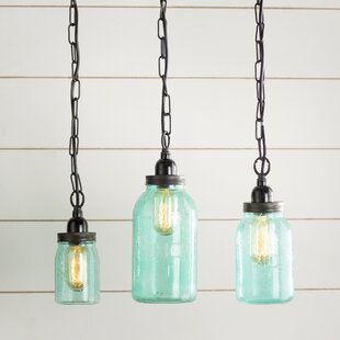 Pendant lights mason jar wayfair norgate mason jar mini pendant set set of 3 aloadofball Image collections