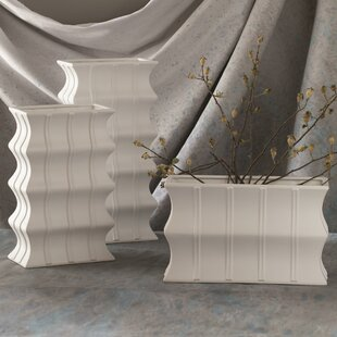 Wavy Column Floor Vase