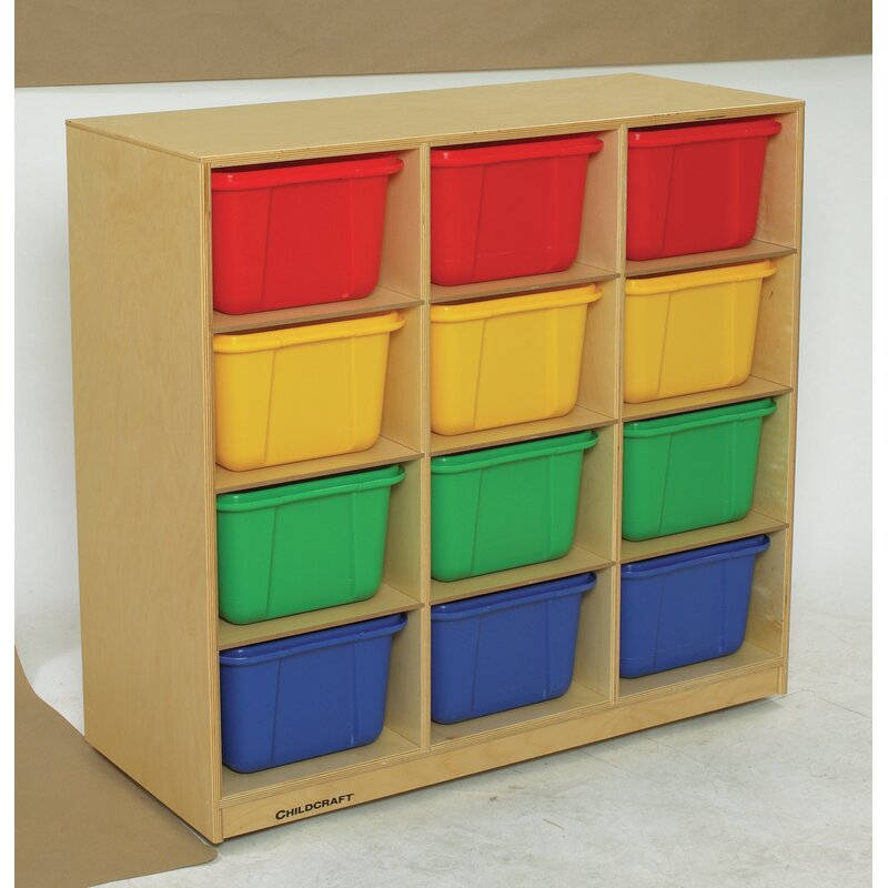 Childcraft Mobile Big 12 Compartment Cubby With Bins Wayfair